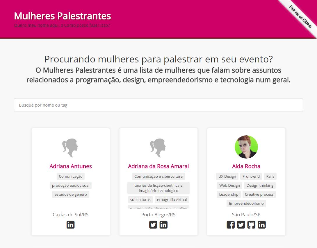 tela do site do projeto