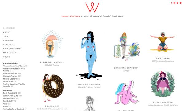 Tela do site do projeto com ilustrações diversas